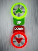 Up and down buttons Piirros