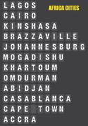 Names of African Cities on Split flap Flip Board Display - stock illustration