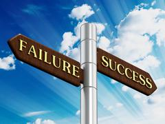 Success and failure road signs Stock Illustration