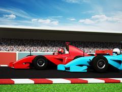Stock Illustration of Car race