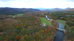 Foliage in North Conway NH - stock footage