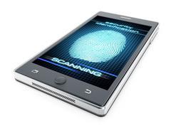 Stock Illustration of Smart phone fingerprint authentication