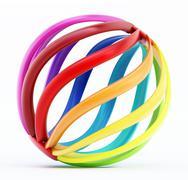 Multi-colored abstract globe shape - stock illustration