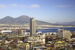 Naples view with skyscraper Stock Photos