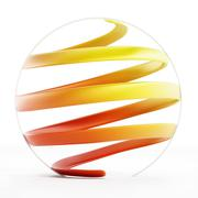 Abstract helix shape inside a circle - stock illustration