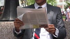 Newspaper, Reading, Periodicals Stock Footage