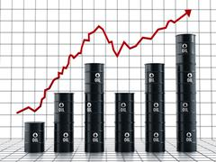 Rising oil prices - stock illustration