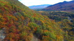 Travel New Hampshipre aerial video foliage Stock Footage