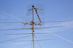 Old TV antenna Stock Photos