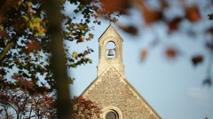 Church bell close up in the golden autumn Stock Footage