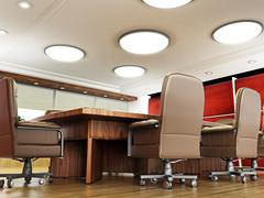 Boardroom with no people Stock Illustration