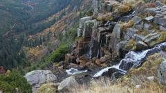 Pancava Waterfall in Czech Republic Stock Footage