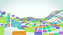 Ocean of Languages Stock Footage