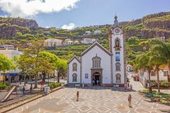 Stock Photo of Village church of Ribeira Brava, Madeira