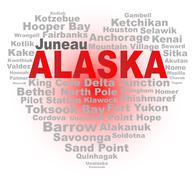 Alaska Heart - stock illustration