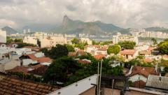 4K Morning Time Lapse Of Clouds Moving Over Rio De Janeiro From Urca Stock Footage
