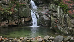 Podgornej Waterfall in Przesieka Stock Footage