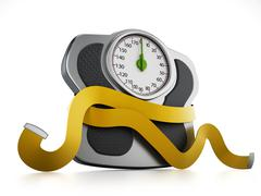 Diet concept with wieght scale and tape measure Stock Illustration