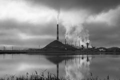 Industrial landscape in Karabash, Chelyabinsk region, Russia Stock Photos