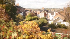 European town in the autumn, England, Reading Stock Footage