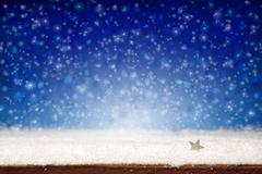 Winter snow background. - stock illustration