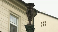 A small statue in Prague Stock Footage