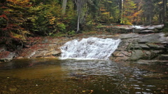 Waterfall with Pool in Autumn Forest Stock Footage