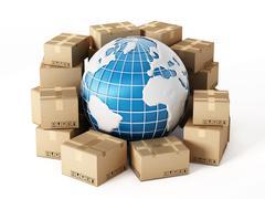 Global delivery - stock illustration