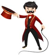 Ring master with whip - stock illustration