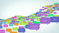 Stock Video Footage of Hello in Many Languages