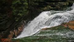 Top of Szklarka Waterfall in Poland Stock Footage