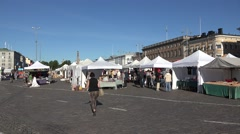 Market Square (in 4k), Helsinki, Finland. Stock Footage