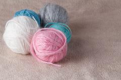 Leisure concept. Ball of yarn for needlework Stock Photos