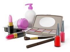 Makeup tools - stock illustration