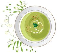 Pea soup Stock Illustration