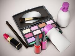 Stock Illustration of Makeup tools