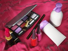 Makeup tools Stock Illustration