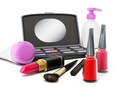 Makeup tools Stock Illustration