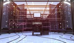 Techno Room Stock Illustration