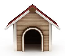 Doghouse with red roof Stock Illustration