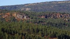 Rimrock on distance mountainside, 4K Stock Footage