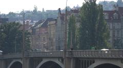 Jiráskův most in Prague Stock Footage