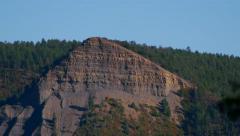 Tilt up mountain ridge to pyramid, 4K Stock Footage
