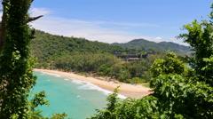 Hidden Tropical Beach Stock Footage