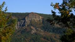 Pyramid Mountain Ridge in Rocky Mountains, 4K Stock Footage