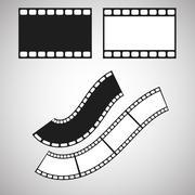 Film stripe pattern brush. Blank celluloid - stock illustration
