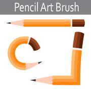 Pencil vector icon. Illustrator art brush - stock illustration