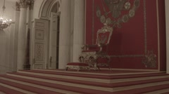 The Throne Of The Emperor In Hermitage Museum, St. Petersburg HD Stock Footage