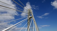 Time Lapse of Clouds over a Cable Stayed Bridge - stock footage