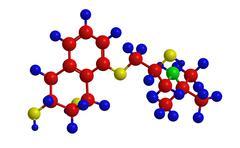 Molecular structure of nadolol (corgard) - beta blocker and doping agent Stock Illustration
